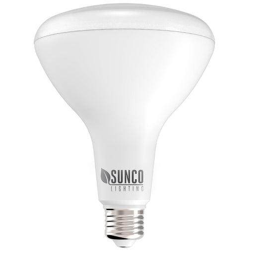 Our Sunco BR40 LED Bulbs fit in 6-inch cans to provide dimmable, low wattage light with bright and high lumen count of 1400lm. They feature a durable housing and an E26 base. Ideal for downlights in ceiling recessed cans, these BR40 LEDs have a long lifetime of 25,000 bulb hours. They include a wide flood beam angle of 110 degrees.