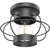 This nautical ceiling light offers style and high tech functionality. The Bayview Industrial Ceiling Light features a steel cage with a matte black finish. Includes an A19 LED Filament Bulb to fit the single the E26 socket. The fixture accepts 60W traditional/incandescent bulbs and up to a 15W LED light bulb. This fixture is suitable for damp or indoor settings. Great for entryway, hallway, covered patio, bath, bedroom, kitchen, living room, or office. Makes a statement in hotel walkways, too.