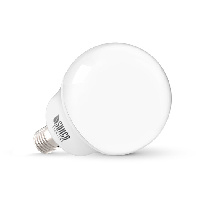 Sunco long-lasting, 5W G14 LED Bulbs are compact, decorative, and offer a low wattage LED alternative – just 5W – as an equivalent to 40W bulbs. This globe light works well in vanities, chandeliers, pendant fixtures, and in small light fixtures for desks and tables. The bulb is RoHS, FCC, and UL listed.