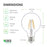 "Dimensions of Sunco G25 LED Filament Bulb: 3.15"" diameter, 4.56"" height, with an E26 base. Other details: wattage 5.5W, Voltage: 120V, Lumens: 500LM."
