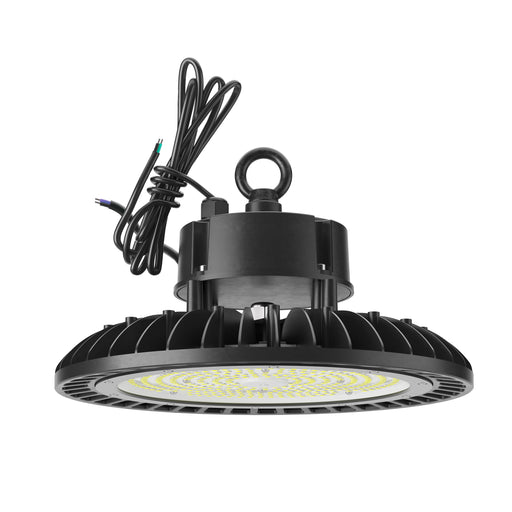 The Sunco UFO High Bay 240W LED Fixture includes a durable lifting ring to easily install this fixture where you need bright light (28000 lumens!) overhead. This waterproof fixture creates a wide, circular light beam for warehouses, grocery stores, airplane hangars, gas station canopies, fast food drive thrus and other exterior applications. The fins on this light fixture are part of an enhanced thermal management system to wick away heat.