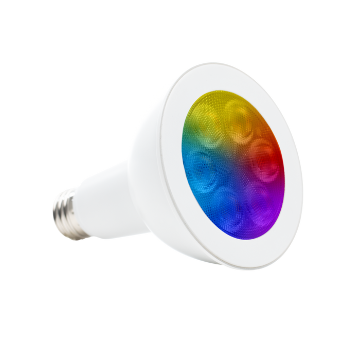 The Sunco PAR30 LED Smart Bulb with an E26 base is wet rated for exterior lighting. You can control your Sunco Smart Bulb with an easy to use app and a smart device over WiFi. Choose new colors from a color wheel, select color temperatures, use a tunable white or decide on warm to cool lighting to adjust lighting as your needs change. Fits 5- to 6-inch cans. Great for landscape lighting and exterior spotlighting of architectural details with its narrow 40-degree light beam.