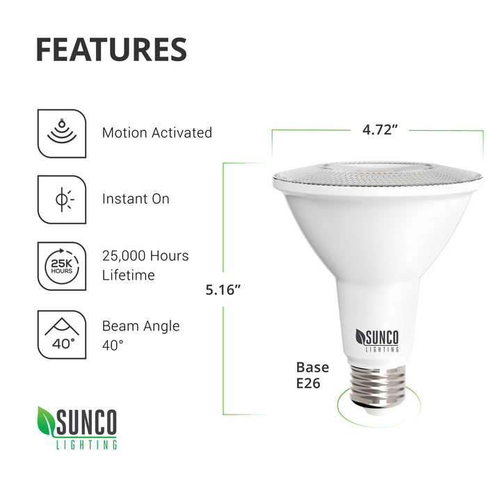PAR38 LED Bulb, Motion Activated