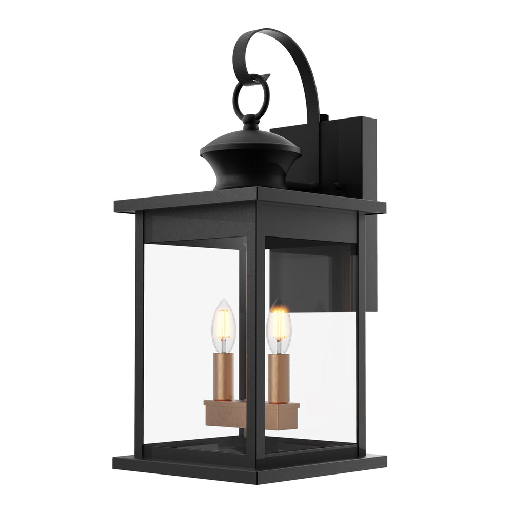 The wet rated Babcock 2-Light Caged Wall Sconce is a hanging wall lantern with glass panes in a rust resistant, wrought iron frame. The fixture is direct wired and easily installed with the simple instructions of our installation manual. Fixture accepts two E12 base light bulbs. It is compatible with both incandescent (40W max) and LED (6W max). The Dusk to Dawn sensor on the fixture automatically turns on/off the light based on detected light levels.