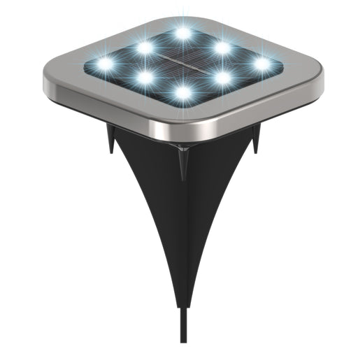 IP65 waterproof, square Solar LED Path Lights from Sunco feature a short stake with a solar powered LED light source in the durable, steel housing. Comes in 7000K as a bright lighting solution for your exterior spaces. Simply place the LED fixture at ground level in landscaping, garden, planters, or around a backyard patio. Each bright LED delivers 8-10 hours of light after charging the battery via solar power in direct sun. Great for restaurant terraces, and the sunny side of exterior walls.
