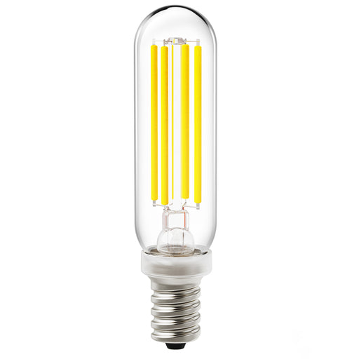Create the retro look and feel of a bygone era with the dimmable Sunco T6 LED Filament Bulb. This wet rated light bulb is tubular in shape and ideal for pendant lamp fixtures where you can see the vintage styling and the LED Filament inside the glass bulb. This bulb features an E12 candelabra base for chandeliers, pendants, unique fixtures, and single bulb light fixtures.