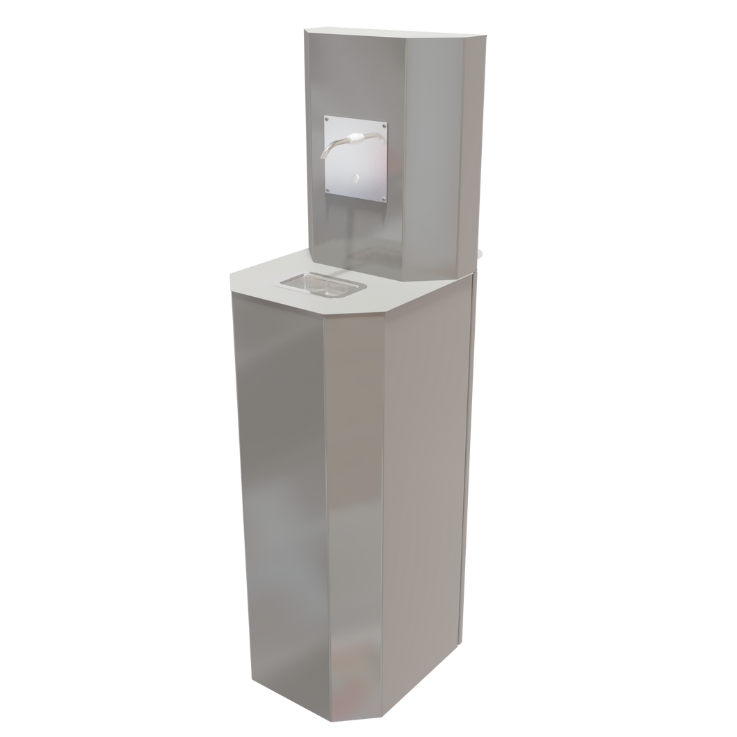 Saskarc High Traffic Touchless Hand Sanitizing Station