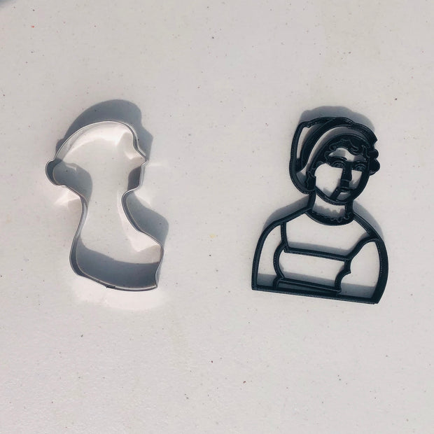 Jane Austen Silhouette Cookie Cutter