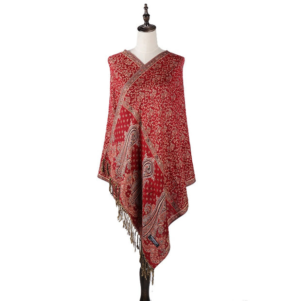 London Paisley Pashmina Shawl