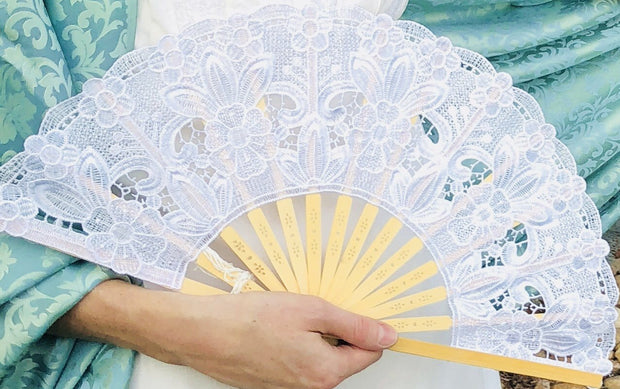 Summer Ball Lace Fan