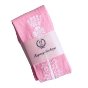 Regency Crown Clocked Cotton Stockings ~ Pink and White