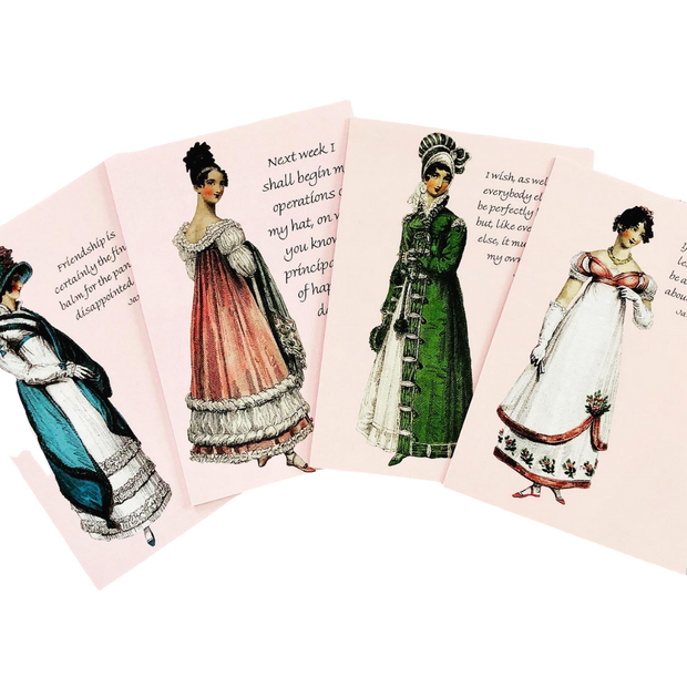 Jane Austen Notecard Collection 1 ~ Set of 4