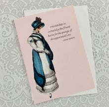 "Jane Austen Notecard ~ ""Friendship is certainly the finest balm..."""