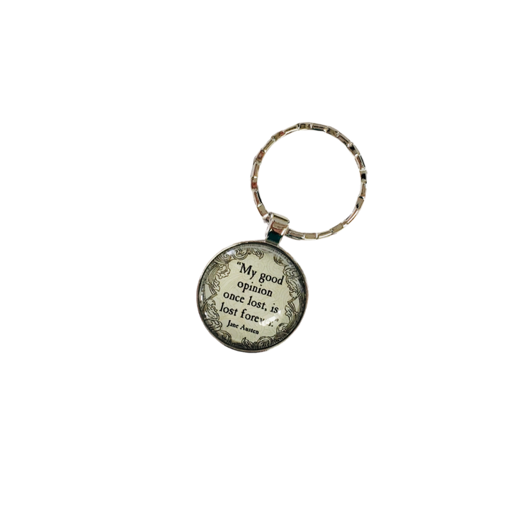 """My Good Opinion"" Cabochon Style Keychain"