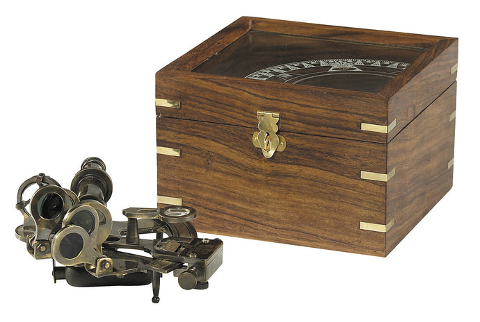 Nautical Sextant in Wood Case