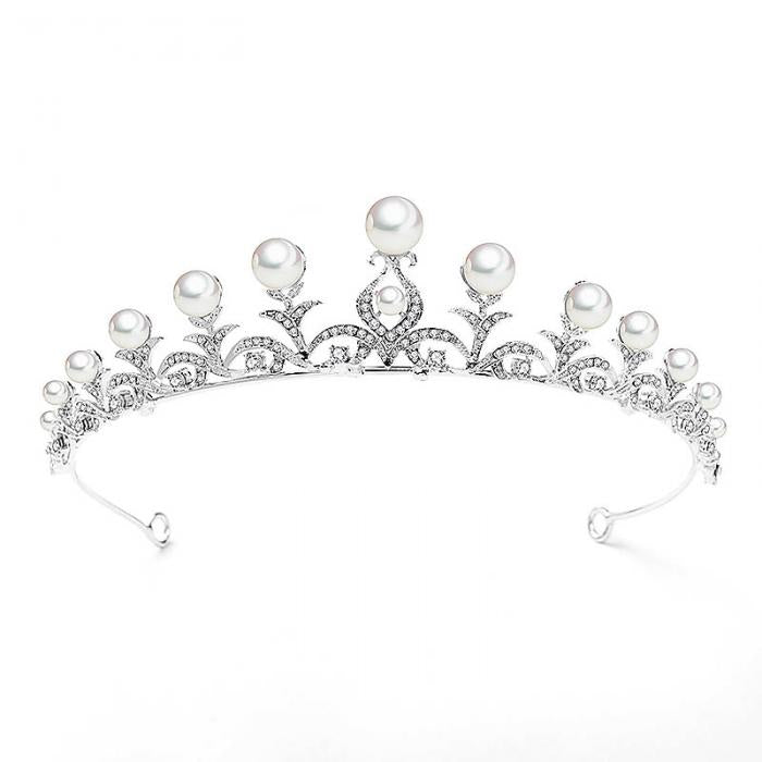 Regency Pearl and Diamond Filigree Tiara