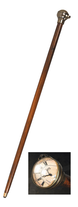 Regency Gentleman Timepiece Walking Stick