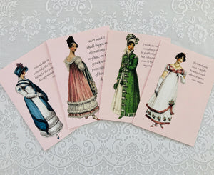 "Jane Austen Notecard ~ ""I wish, as well as everybody else..."""