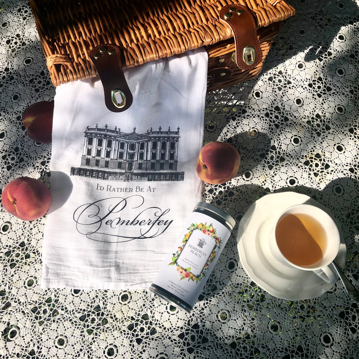"""I'd Rather Be At Pemberley"" Tea Towel"