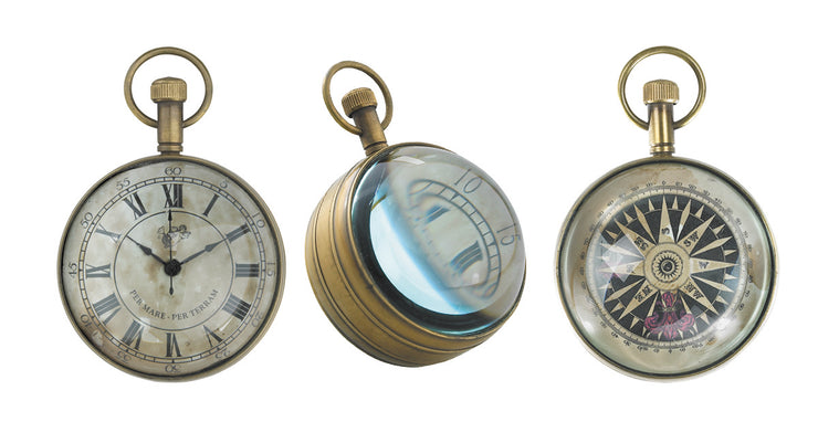 Antique Pocketwatch and Compass