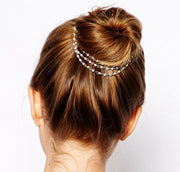 Georgiana Pearl Triple Strand Hair Ornament
