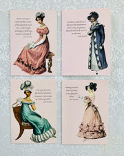 "Jane Austen Notecard ~ ""A woman, especially if she has the misfortune..."""
