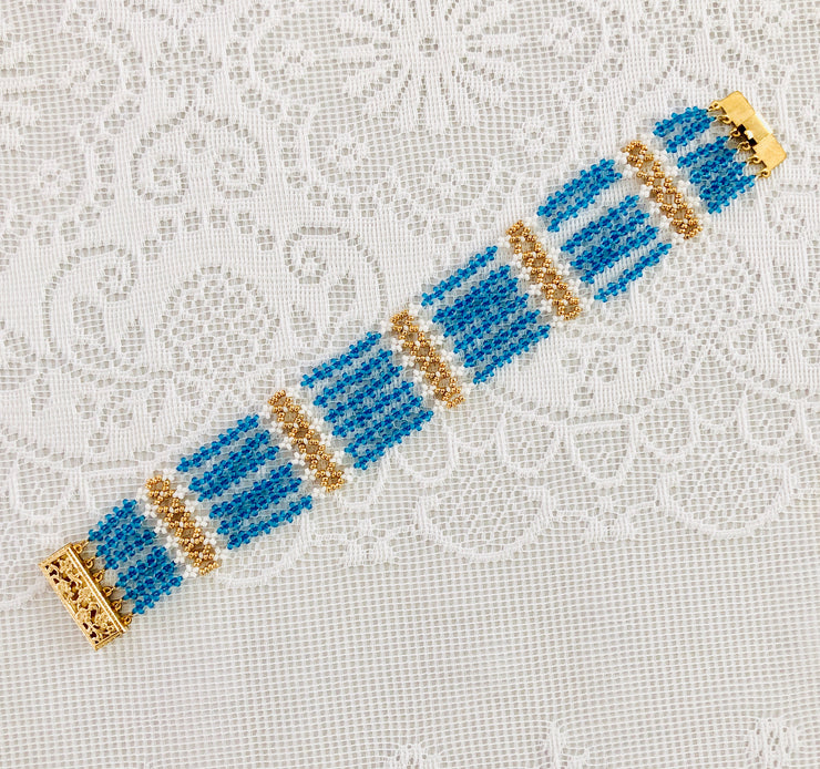 Jane Austen Replica Beaded Bracelet ~ Now in Silver!