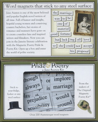 """Pride & Poetry"" Magnetic Poetry Kit"