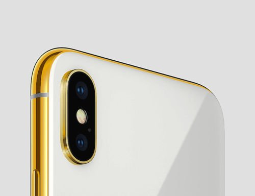 "Unlocked Smartphone Gold Plated iPhone Xs , A1865 , 256 GB Silver , 6.5"" ,BLK Screen, CUSTOM"