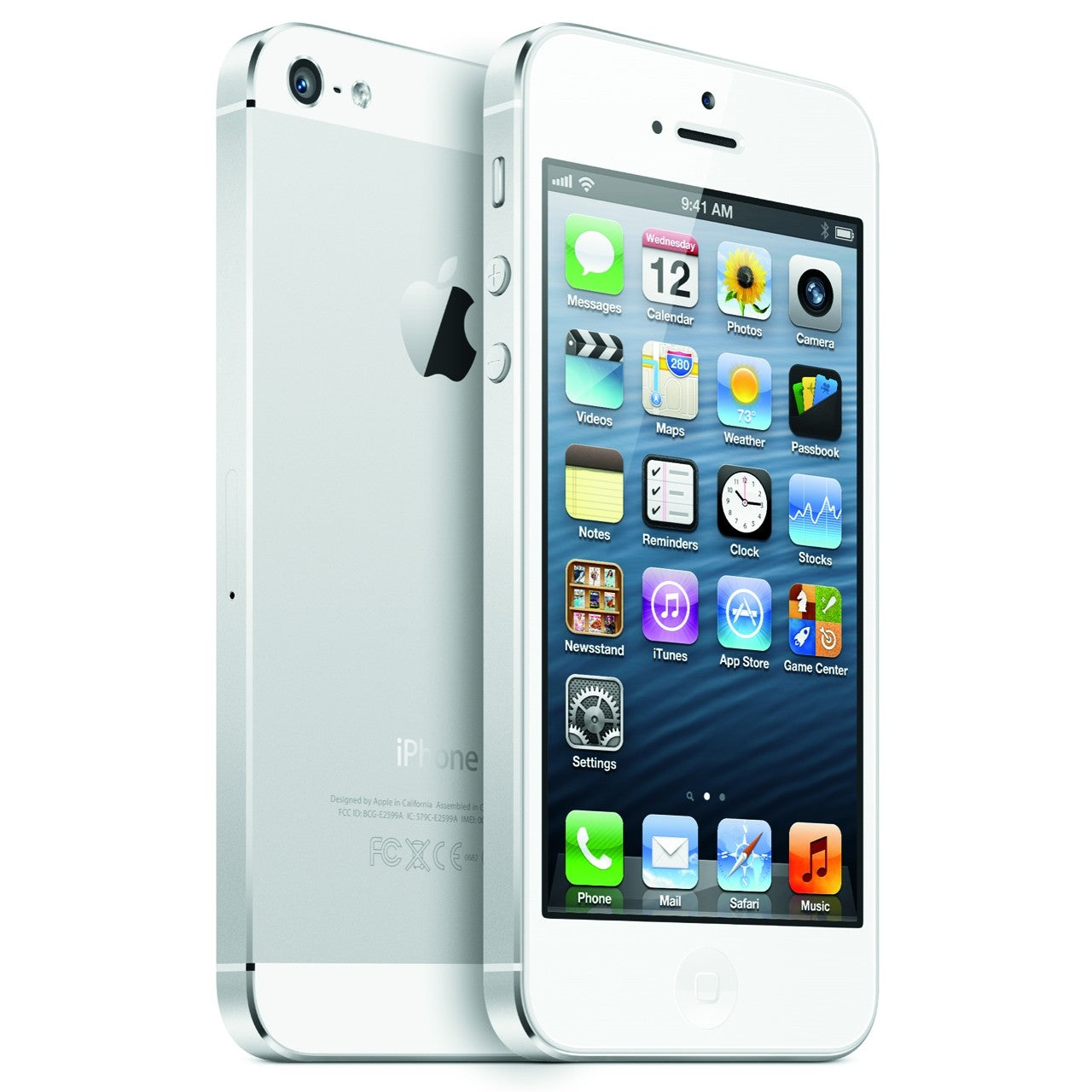 Used Apple iPhone 5s 64GB ME312LLA White/Silver  AT&T Warranty 90 Days