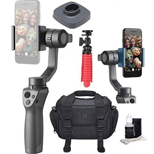 Mobile Handheld Smartphone Gimbal Stabilizer Videographer Bundle with Case, Flex Tripod, Base and Lens Maintenance Kit