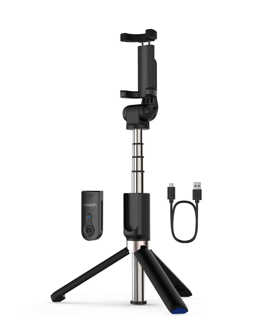 Selfie Stick Tripod Bluetooth, Extendable Phone Tripod Selfie Stick with Wireless Remote Shutter for iPhone Xs MAX/XR/XS/X/8/8P/7/7P/6s/6, Galaxy S9/S8/S7/S6/Note 9/8, Huawei