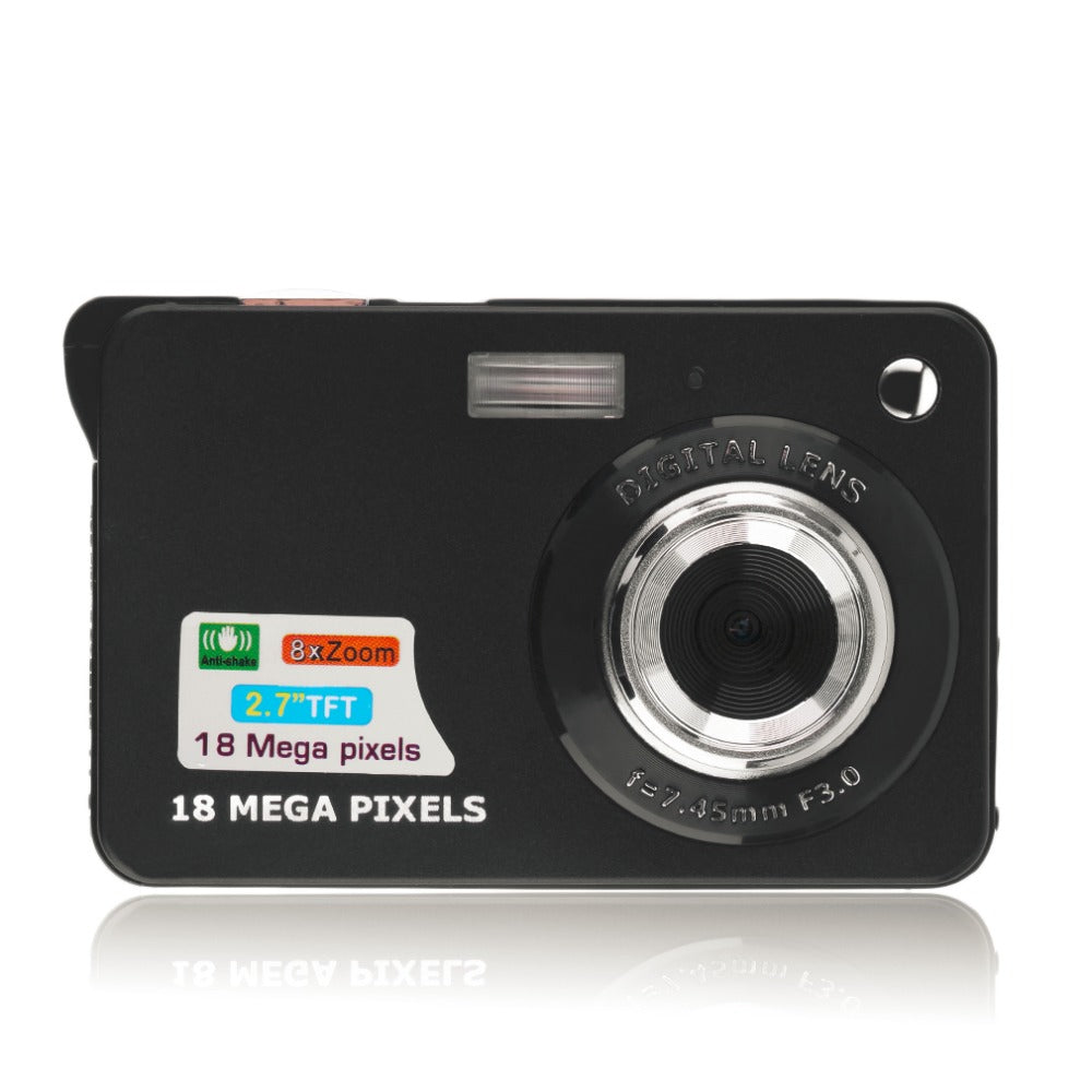 Digital Camera Camcorder TF card JPEG/AVI CMOS Senor 2.7 TFT LCD HD 720P 8x Zoom Anti-shake