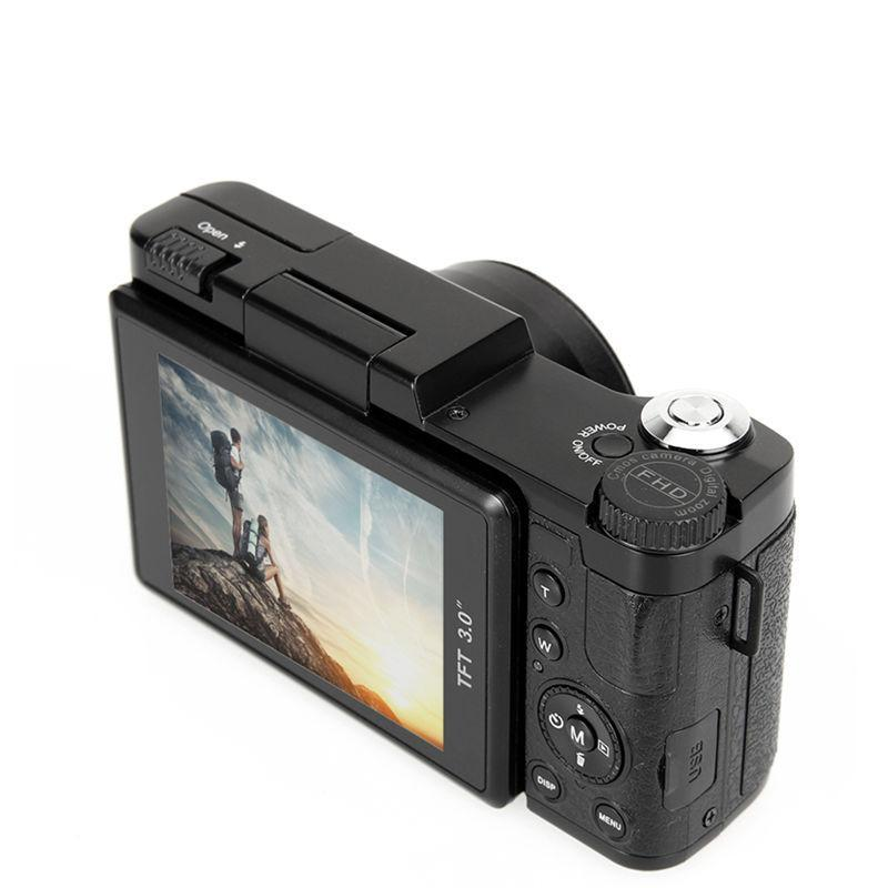 "Digital Camera Video 1080P Camcorder CMOS Video Lens  + Filter Mini Digital Camera 3"" TFT LCD Full HD 24MP"