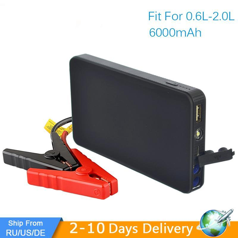 Mini Portable 12V Car Battery Jump Starter Auto Jumper Engine Power Bank Starting Up To 2.0L Car Start
