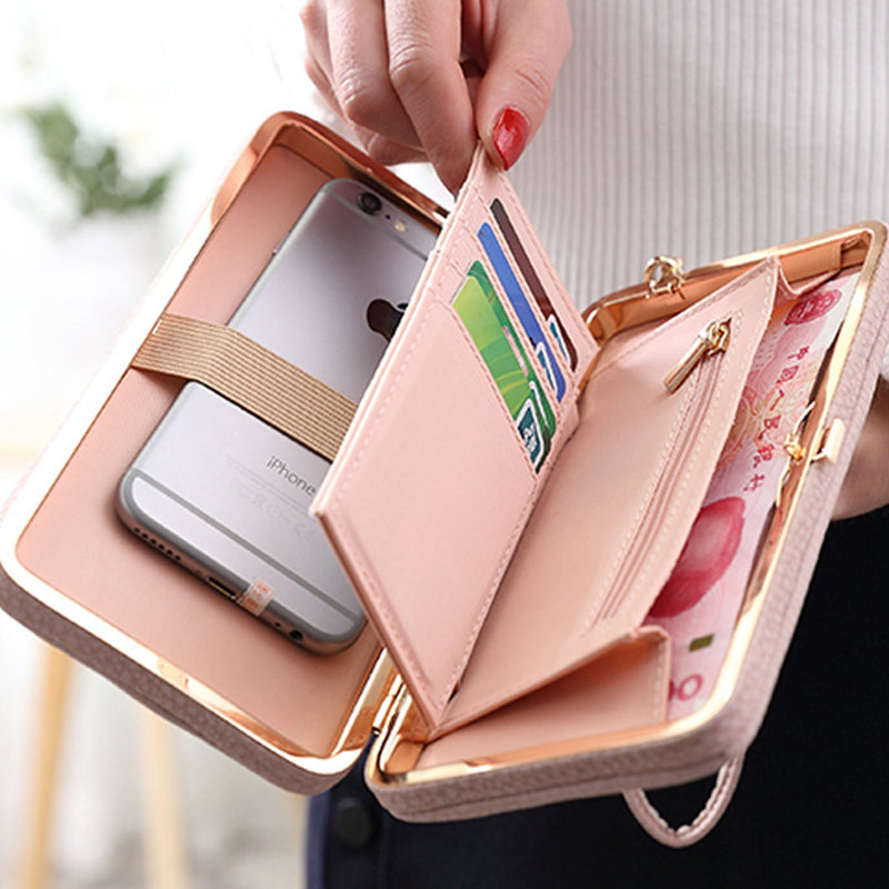Women Leather Purse Wallets Female Money Bag Coin Purses Long Clutch Card Holder Women Wallet Phone Case