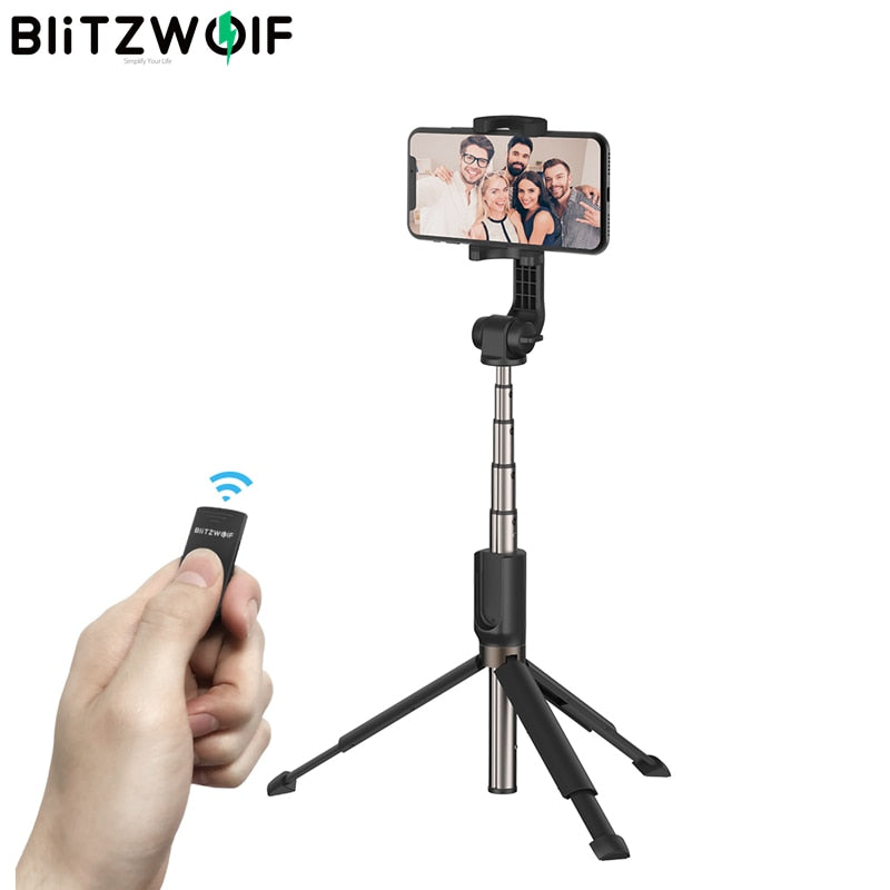 Best 3 in 1 bluetooth Wireless Selfie Stick Handheld Mini Foldable Extended Portable Tripod Monopod for Smartphones