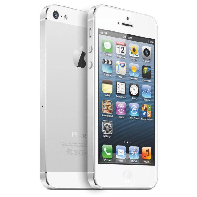 "Reconditioned Apple iPhone 5 16GB MD635LLA 4"" White/Silver  AT&T Warranty 90 days"