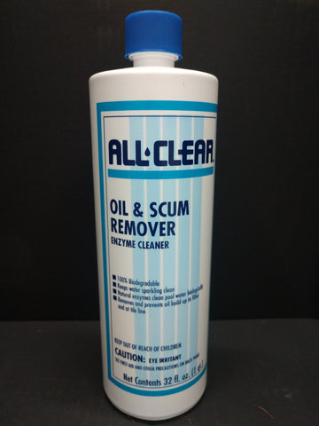 ALL CLEAR Oil & Scum Remover (Large Bottle)