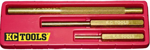 KC Tools 07026 3 PIECE BRASS PUNCH SET