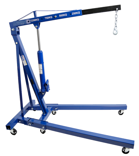 Tradequip 1001T 1200kg Engine Crane - Foldable