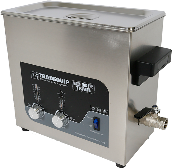 Tradequip 1036T Ultrasonic Parts Cleaner 6 Litre