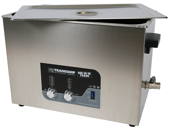 Tradequip 1038T Ultrasonic Parts Cleaner 27 Litre