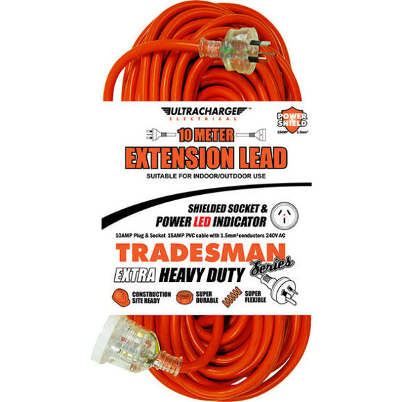 ULTRACHARGE UR240/10T Tradesman 10M Heavy Duty Extension Lead