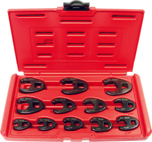 "KC Tools 11220 12 PIECE 3/8"" & 1/2"" DRIVE IMPACT CROWS FOOT SPANNER SET - AF"