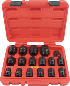 "KC Tools 11300M 16 PIECE 1/2"" DRIVE IMPACT SOCKET SET - METRIC"