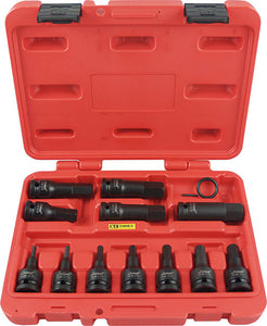 "KC Tools 11324A 12 PIECE 1/2"" DRIVE IMPACT IN-HEX SOCKET SET -AF"