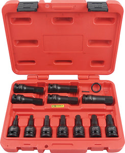 "KC Tools 11324M 12 PIECE 1/2"" DRIVE IMPACT IN-HEX SOCKET SET - METRIC"