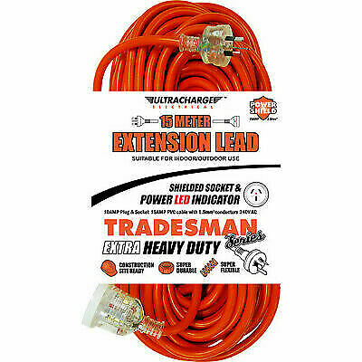 ULTRACHARGE UR240/15T TRADESMAN 15M HEAVY DUTY EXT LEAD
