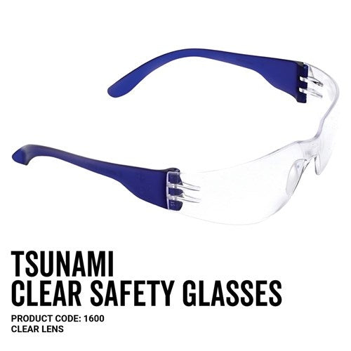 Pro Choice 1600 Tsunami Safety Glasses Clear Lens